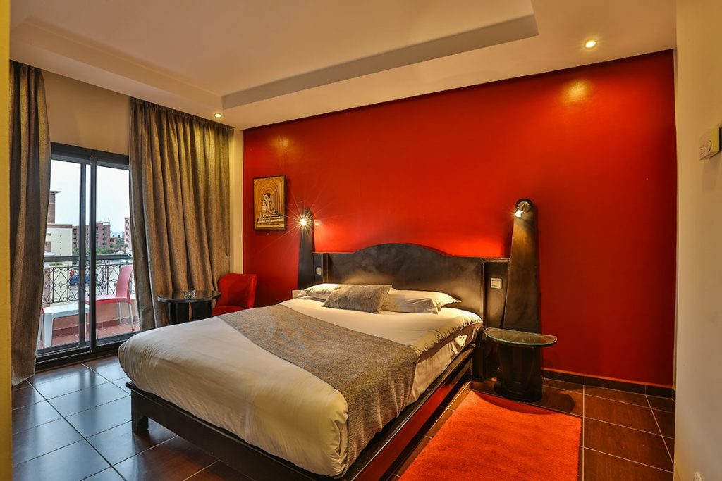 Chambre double red marrakech h tel maroc for Chambre red wine